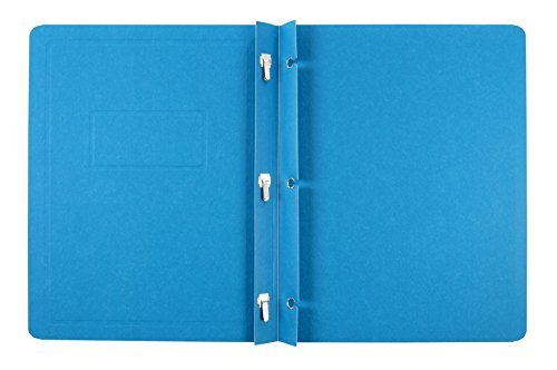 Oxford Title Panel - Oxford Title Panel and Border Front Report Covers, Light Blue, Letter Size, 25 per Box, (52501EE)