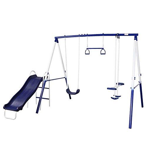 Peach Tree Play Park Swing Set w/ Slide