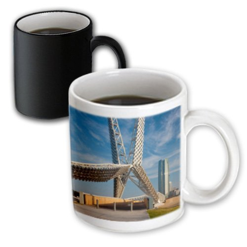 3dRose mug_192101_3 USA, Oklahoma, Oklahoma City, Skydance Footbridge Magic Transforming Mug, 11-Ounce (Coffee Mug Oklahoma)