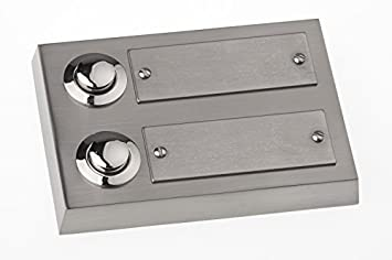 Großartig HUBER Klingel Klingeltaster 12012, 2-fach aufputz, rechteckig  AD26