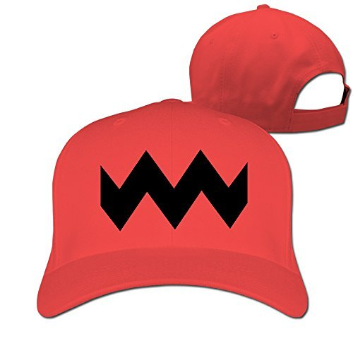 GXGML Charlie Brown Wavy Lines Unisex Fashion Adjustable Pure 100% Cotton Peaked Cap Sports Washed Baseball Hunting Cap Trucker Hats Red (Adjustable Charlie Hat Womens)