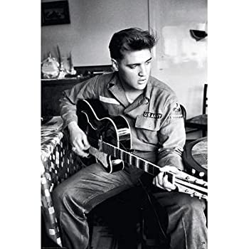 (24x36) Elvis Presley Army Uniform Music Poster Print by Poster Revolution