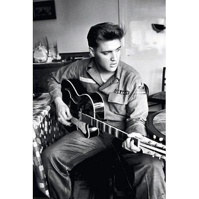 Elvis Presley Army Uniform Music Poster Print by Revolution