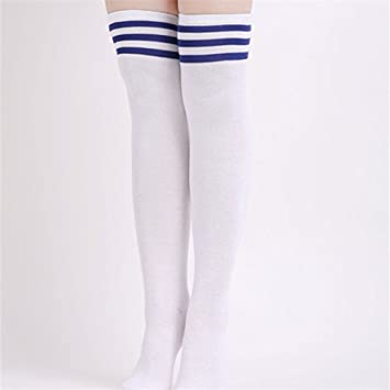 24b2818c6 Embiofuels - Fashion Striped Knee High Socks Women Long Cotton Socks Thigh  High Stockings For Ladies