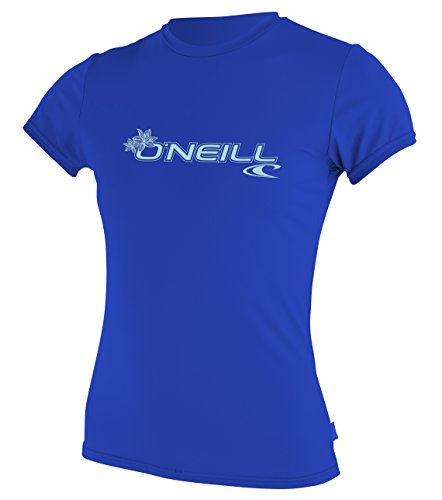 Oneill Women Wetsuits (O'Neill Wetsuits  Women's Basic Skins Upf 50+ Short Sleeve Sun Shirt,Tahitian Blue,X-Large)