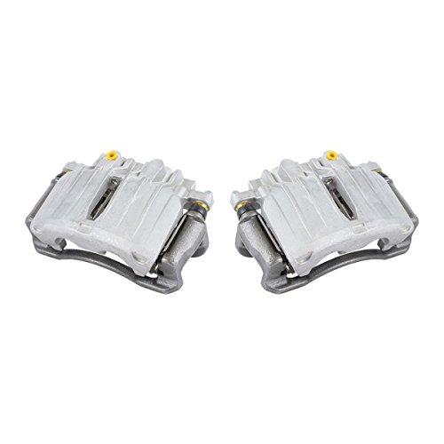 4 Piston Rear Brake Caliper - CKOE00972 [ 2 ] REAR Premium Grade OE Semi-Loaded Caliper Assembly Pair Set