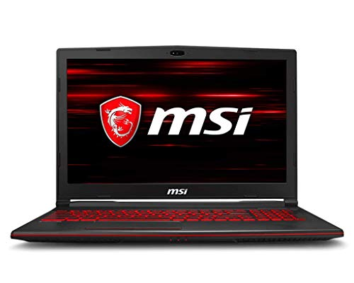 MSI GL63 8RD-221 Gaming Laptop with MSI Gaming Mouse, 15.6