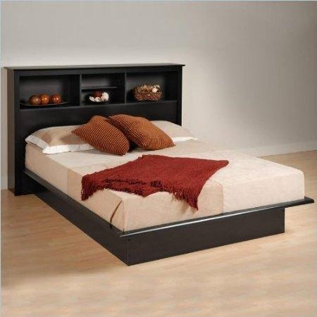 Prepac Black Sonoma Double/Full Bookcase Platform Bed