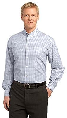 Port Authority Men's Plaid Pattern Button-Down Shirt