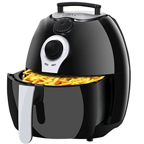 Super Deal 1500W Electric Air Fryer 3.7 Quart W/ Timer, Temperature Control , Detachable Basket Handles Free Oil (#03)