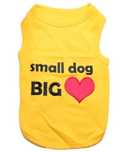 Pet Clothes SMALL DOG BIG HEART Dog T-Shirt - Small, My Pet Supplies