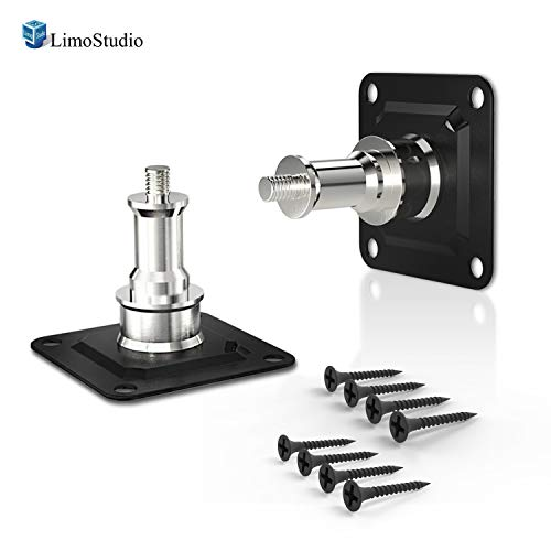 "LimoStudio [2-Pack] Wall and Ceiling Mount with 5/8"" Stud and 1/4' Thread with Screws for Photo Studio and Video Shooting, AGG2801"
