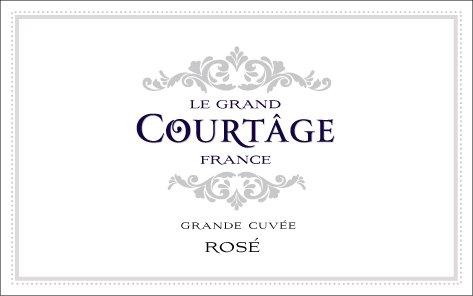 NV Le Grand Courtȃge Grande Cuvée Brut Rosé 187 mL Sparkling Wine