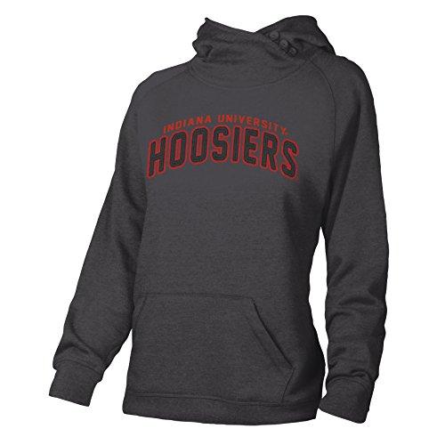 Indiana Womens Hoody Zip Sweatshirt - NCAA Indiana Hoosiers Adult Women Asym Hoodie  Medium