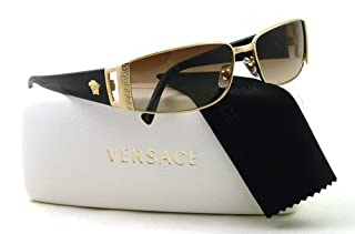3169ac650f74 Versace VE2021 Sunglasses-1002/13 Gold (Brown Gradient Lens)-60mm  (B003IE9M0E) | Amazon price tracker / tracking, Amazon price history  charts, Amazon price ...