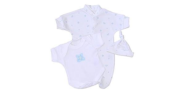 82380d6c4 BabyPrem Bebé Prematuro Pijama Body Sombrero Ropa Rosa Niños 32-38cm Azul  Luna y Estrellas