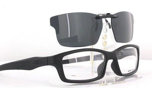 oakley crosslink sunglasses  oakley crosslink ox8027 53x17 polarized clip on sunglasses (frame not included): amazon.co.uk: health & personal care