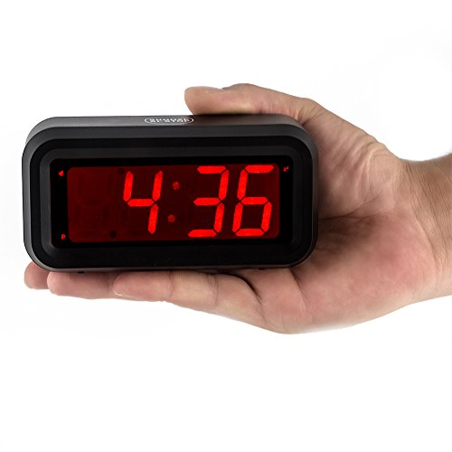 kwanwa led digital alarm clock battery powered only small