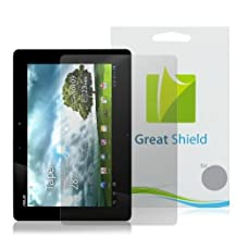 GreatShield Ultra Smooth Clear Screen Protector Film for ASUS Transformer Prime TF201 10.1 inch Touchscreen Tablet (3 Pack)