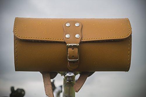 Fahrrad Sattel Tasche echt Leder honig Tan Klassischer Stil