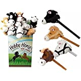 HOBBY HORSE WITH SOUND ASSORTED COLOURS RANDOM WILL BE SENT