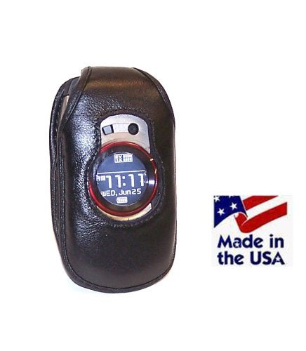 Turtleback Fitted Case Made for UTStarcom G'zOne Boulder C711 Phone Black Leather Rotating Removable Belt Clip Made in USA ()