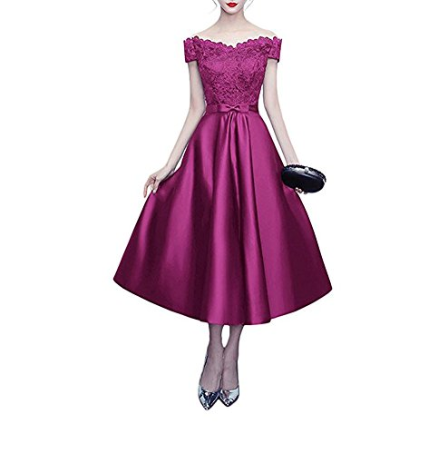 Linie Fuchsia of Beauty A the Damen Leader Kleid 0dX6qwAvqx