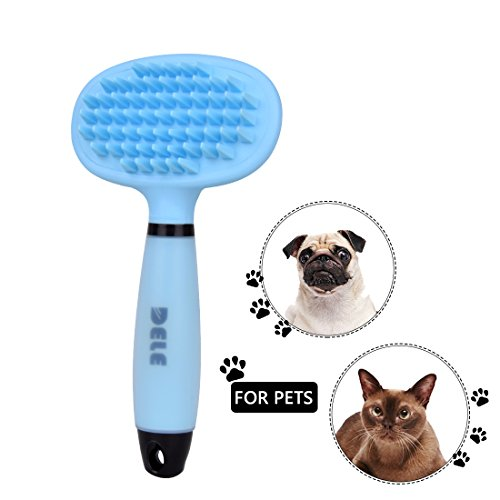 Massage Curry Comb (Pet Dog Bath Massage Brush - Professional Dog Grooming Comb Removes Tangled,Loose Long, Short Hair,Pet Grooming Shedding Massage Brushes for Dog,Cat,Rabbit, Animals with Hair -PerSuper)
