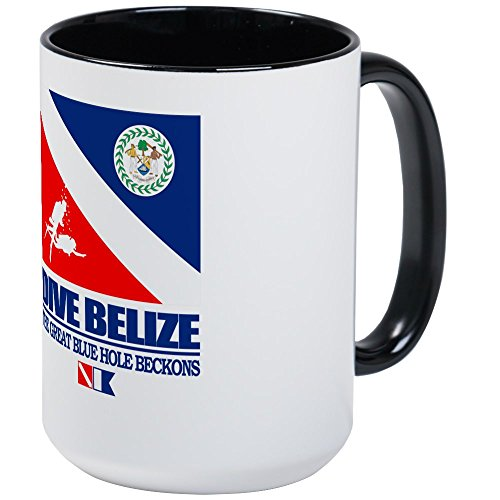 CafePress - Dive Belize Mug - Coffee Mug, Large 15 oz. White Coffee (Belize Mug)