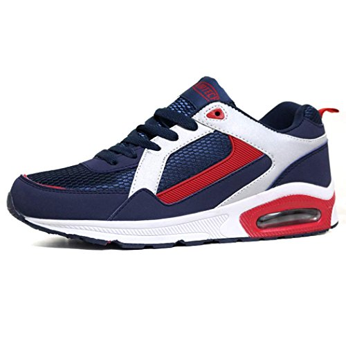 Les Entraneurs Course Absorbant Shoes Jogging Chaussures New De Trainer Navy Gym Pour Chocs Fitness Red Hommes AqYSq