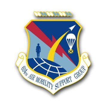 Us air force 624th air mobility support group decal sticker 3 8