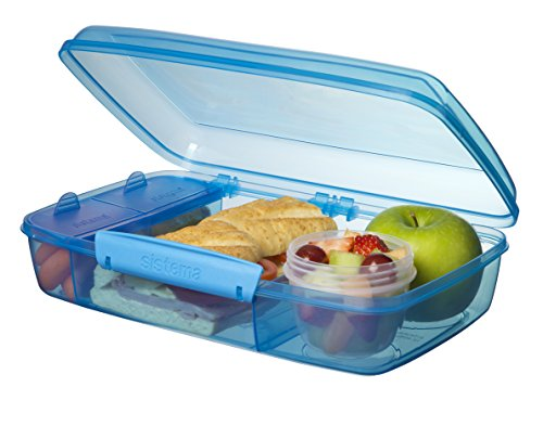 Sistema Lunch Collection Bento Box for Food Storage, Multicolor by Sistema