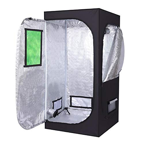 dsfved Indoor Grow Tent Kit Complete System 8080160cm Mylar Hydroponic Home Use Dismountable Hydroponic Plant Portable…
