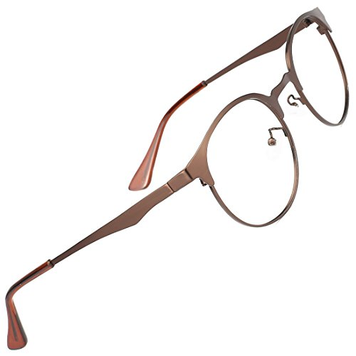 235ac425da TIJN Men Women Classic Round Non-prescription Glasses Frosted Eyeglasses  Frames 00064201