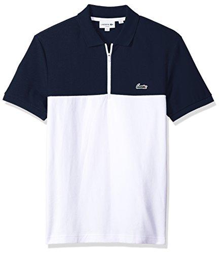 Lacoste Mens Short Sleeve Color-Block Honeycomb Pique Slim Polo, PH3239