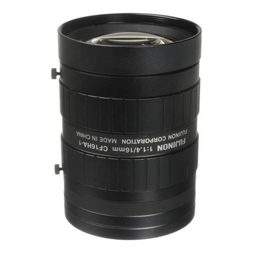 Fujinon CF16HA-1 1'' 16mm f/1.4 Manual Iris and Focus Industrial Lens for High Resolution C-Mount Machine Vision Cameras