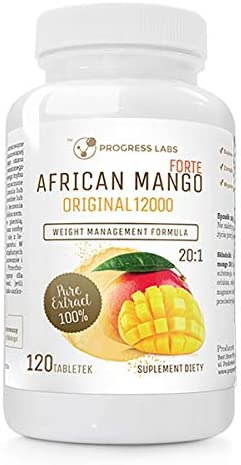 Progress Labs African Mango Forte Original 20:1 600mg 20:1 (12000mg) 120tabs Fatburner Fettverbrenner