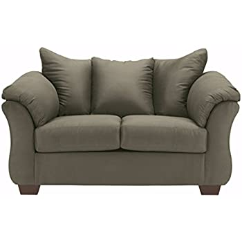 amazon com ashley furniture signature design darcy love seat rh amazon com ashley furniture microfiber couch cleaning ashley furniture reclining sofa take apart