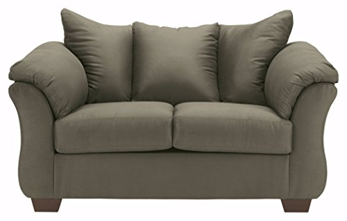 (Ashley Furniture Signature Design - Darcy Love Seat - Contemporary Style Microfiber Couch - Sage)