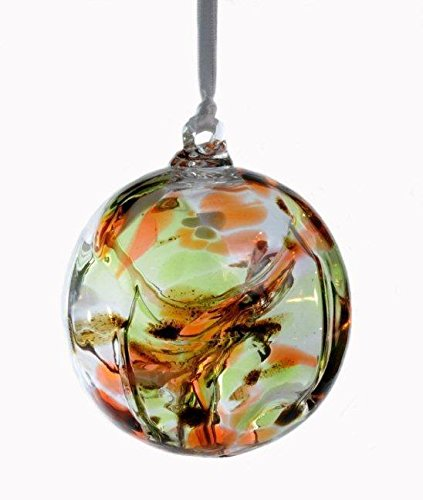 Witch or Spirit Ball in an Amber/Green Color -