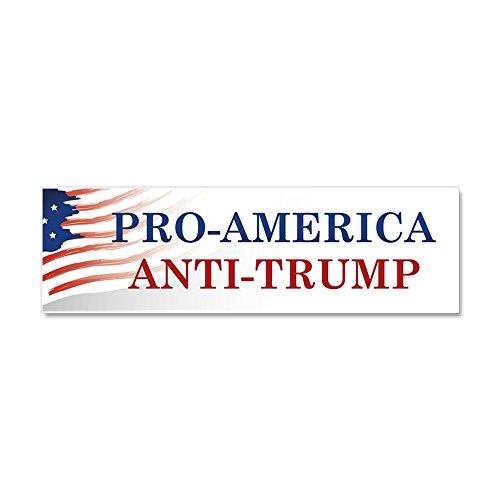 CafePress - Pro-America Anti-Trump - Car Magnet 10 x 3, Magnetic Bumper Sticker