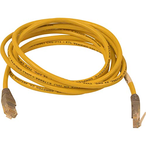 Belkin A3X12607YLWM - CAT5e Crossover Patch Cable, RJ45 Connectors, 7 ft., Yellow-BLKA3X12607YLWM ()