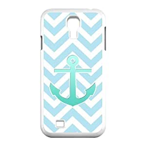 Blue Chevron Anchor Pattern Phone For Case Samsung Galaxy S5 Cover [Pattern-1]