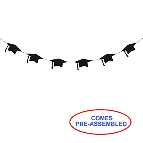 Graduation Caps Banner Garland | 2019 Graduation Party Decorations | Grad Party Favors Backdrop | Grad Cap Sign Decor]()
