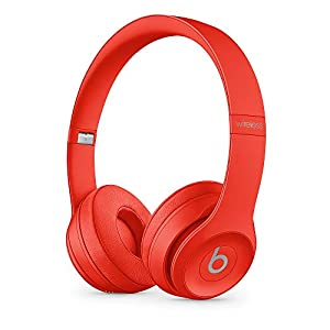 Beats Solo3 Wireless On-Ear Headphones - Apple W1 Headphone Chip, Class 1 Bluetooth, 40 Hours Of Listening Time - Red