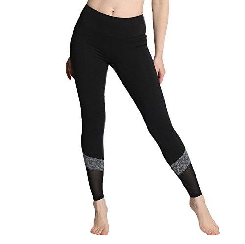 YQFSSH Fashionable flexible gauze movement fitness yoga pants have leg protection function