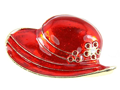 Red Hat Society 6030015 Ladies Club Pin Brooche Clothes Clothing Redhat (Red Hat Lady Brooch Pin)