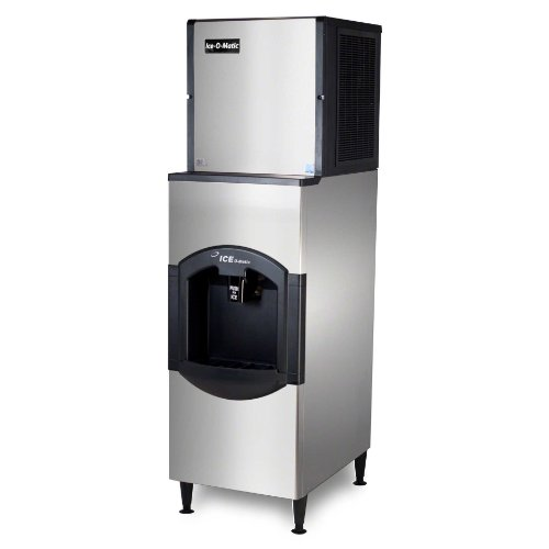 Ice-O-Matic ICE0320HA-CD40022 334 lb 22'' Air-Cooled Ice Machine w/ CD40022 Hotel Dispenser by Ice-O-Matic