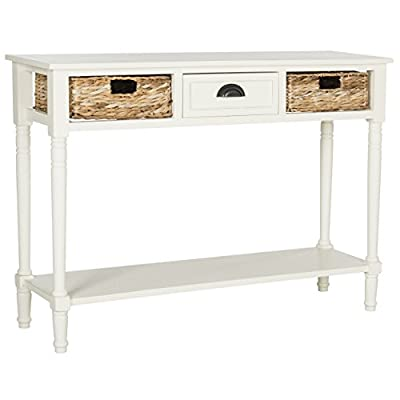 Safavieh American Homes Collection Christa Distressed White Storage Console Table
