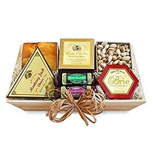 Savory California Delights Gift Box | Sausages, Cheese, Nuts and Dried Fruits by The Gift Basket Gallery